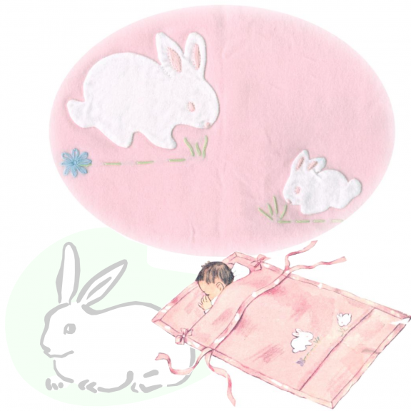 Bunny Buddies Appliquéd Baby Crib Blanket