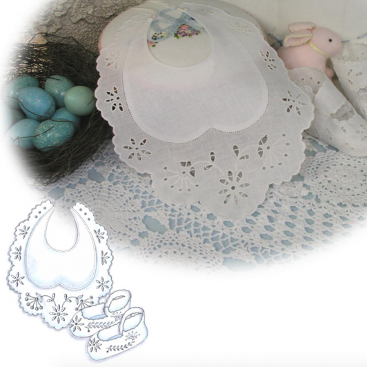 Edwardian Bib and Booties