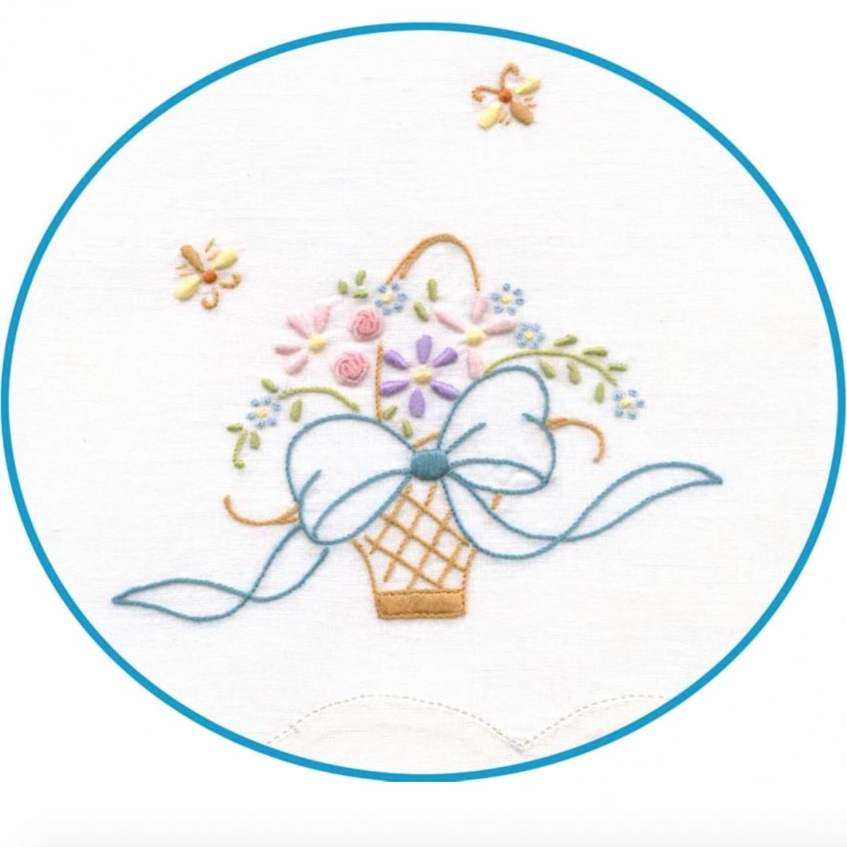 Madeira Embroidered Tea Towel