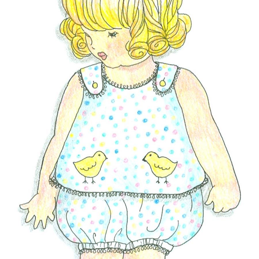 Vintage Baby Bubbles Wendy Schoen